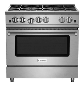"RNB366BV2N BlueStar 36"" Freestanding Natural Gas Range - 6 Burners - Stainless Steel"