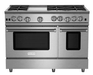 """RNB486GBV2 BlueStar 48"""" Freestanding Natural Gas Range - 6 Burners with 12"""" Griddle - Stainless Steel"""