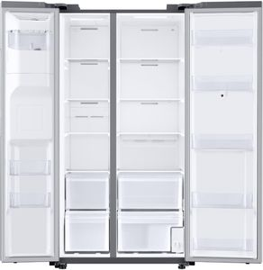 """RS22T5561SR Samsung 36"""" 21.5 cu. ft. Capacity WiFi Enabled Side by Side Counter Depth Refrigerator with Ice Maker and Family Hub - Fingerprint Resistant Stainless Steel"""