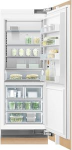 "RS3084FRJK1 Fisher & Paykel 30"" Integrated Column Freezer with ActiveSmart Foodcare and Stainless Interior  - Right Hinge - Custom Panel"