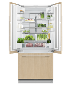 "RS32A72J1 Fisher & Paykel 32"" Series 7 Integrated Counter Depth French Door Refrigerator with Ice Maker - Custom Panel"