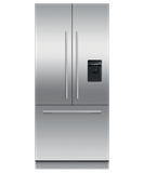 "RS32A72U1 Fisher & Paykel 32"" Series 7 Integrated Counter Depth French Door Refrigerator with Ice Maker and Water Dispenser - Custom Panel"