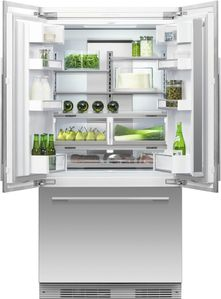 """RS36A72U1N Fisher & Paykel 36"""" ActiveSmart French Door Built-in Refrigerator with Ice & Water - 72"""" Tall - Custom Panel"""