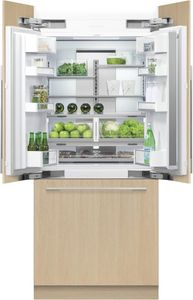 """RS36A80J1N Fisher & Paykel 36"""" ActiveSmart French Door Built-in Refrigerator - 80"""" Tall - Custom Panel"""