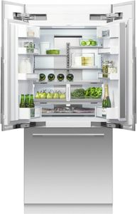 """RS36A80U1N Fisher & Paykel 36"""" ActiveSmart French Door Built-in Refrigerator with Ice & Water - 80"""" Tall - Custom Panel"""