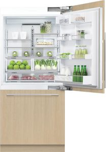 "RS36W80RJ1N Fisher & Paykel 36"" Right Hinge Integrated Bottom Mount Freeze Refrigerator with 16.8 cu. ft. Capacity and 6 Door Bins - Custom Panel"