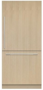 """RS36W80RJ1N Fisher & Paykel 36"""" Right Hinge Integrated Bottom Mount Freeze Refrigerator with 16.8 cu. ft. Capacity and 6 Door Bins - Custom Panel"""