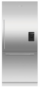 """RS36W80RU1N Fisher & Paykel 36"""" Right Hinge Integrated Bottom Mount Freeze Refrigerator with 16.8 cu. ft. Capacity and 6 Door Bins - Custom Panel"""