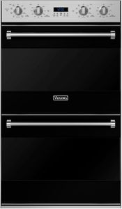 "RVDOE330BK Viking 30"" Double Electric Convection Oven with Concealed Bake Element - Black"