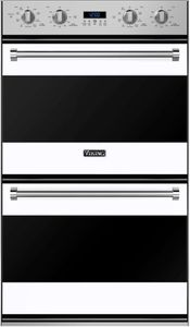 """RVDOE330WH Viking 30"""" Double Electric Convection Oven with Concealed Bake Element - White"""