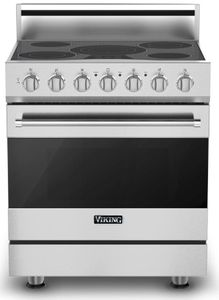 """RVER33015BSS Viking 30"""" Electric Self Cleaning Range with Glass Ceramic Surface - Electric - Stainless Steel"""