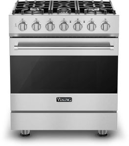 """RVGR33025BSS Viking 30"""" 3 Series Freestanding Gas Range with Five Sealed Burners and SureSpark Ignition System - Natural Gas - Stainless Steel"""