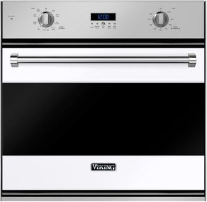 """RVSOE330WH Viking 30"""" Single Convection Oven with Concealed Bake Element - White"""