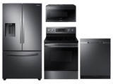 Package SBS1  - Samsung Appliance Package - 4 Piece Appliance Package with Electric Range - Black Stainless Steel