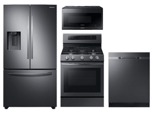 Package SBS2  - Samsung Appliance Package - 4 Piece Appliance Package with Gas Range - Black Stainless Steel