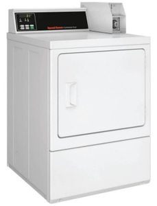 """SDENCRGS173TW01 Speed Queen 27"""" Commercial Electric Dryer  with Quantum Control - White"""