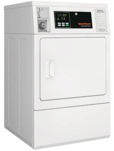 """SDGNCAGS173TW01 Speed Queen 27"""" Commercial Gas Dryer with Quantum Control - White"""