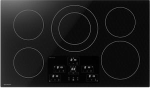 """SDH3652DB Sharp 36"""" Induction Cooktop with 5 Cooking Zones - Black Mirror"""