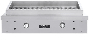"""SEAR2NT TEC 44"""" Natural Gas Searmaster Hoodless Sideburner/Grill with Full Warming Rack and 304 stainless steel construction - Stainless Steel"""