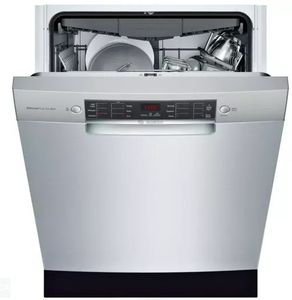 """SGE68X55UC Bosch 800 Series 24"""" Recessed Handle Special Application Dishwasher with RackMatic Racks and Touch Control Technology - Stainless Steel"""