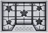 """SGS305TS Thermador 30"""" Masterpiece Gas Cooktop with 4 Star Burners and Continuous Grates - Stainless Steel"""