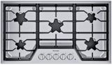 """SGS365TS Thermador 36"""" Masterpiece Gas Cooktop with 4 Star Burners and Continuous Grates - Stainless Steel"""