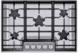 """SGSP305TS Thermador 30"""" Masterpiece Gas Cooktop with 5 Star Burners and Quick Clean Base - Stainless Steel"""