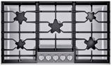 """SGSP365TS Thermador 36"""" Masterpiece Gas Cooktop with 5 Star Burners and Quick Clean Base - Stainless Steel"""