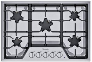 "SGSX305TS Thermador 30"" Masterpiece Gas Cooktop with 5 Star Burners and ExtraLow Select - Stainless Steel"