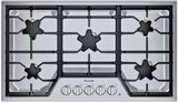 """SGSX365TS Thermador 36"""" Masterpiece Gas Cooktop with 5 Star Burners and ExtraLow Select - Stainless Steel"""