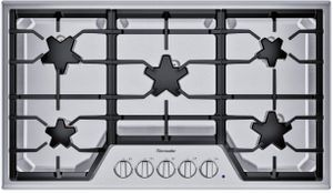 "SGSX365TS Thermador 36"" Masterpiece Gas Cooktop with 5 Star Burners and ExtraLow Select - Stainless Steel"