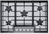 """SGSXP305TS Thermador 30"""" Masterpiece Gas Cooktop with QuickClean Base and Raised Pedestal Burner - Stainless Steel"""