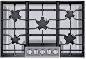 "SGSXP305TS Thermador 30"" Masterpiece Gas Cooktop with QuickClean Base and Raised Pedestal Burner - Stainless Steel"