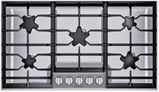 """SGSXP365TS Thermador 36"""" Masterpiece Gas Cooktop with  QuickClean Base and Raised Pedestal Burner - Stainless Steel"""
