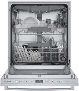 """SGX78B55UC Bosch 800 Series 24"""" ADA-compliant Top Control Dishwasher with Bar Handle - Stainless Steel"""