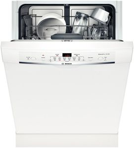 "SHE3AR72UC Bosch Ascenta Series 24"" Recessed Handle Dishwasher - White"