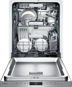"SHP88PW55N Bosch 24"" Benchmark Series Top Control Pocket Handle Dishwasher with MyWay Rack and FlexSpace Plus Tines - Stainless Steel"