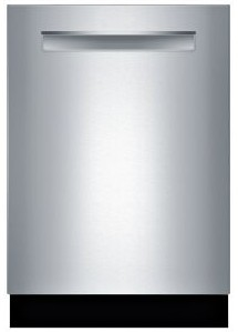 """SHP88PW55N Bosch 24"""" Benchmark Series Top Control Pocket Handle Dishwasher with MyWay Rack and FlexSpace Plus Tines - Stainless Steel"""