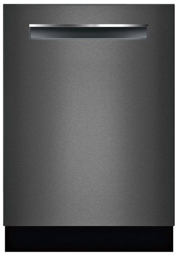 "SHPM78Z54N Bosch 24"" 800 Series Top Control Dishwasher 42dBa with FlexSpace Tines and AquaStop Leak Protection - Black Stainless Steel with Pocket Handle"