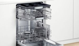 """SHPM78Z54N Bosch 24"""" 800 Series Top Control Dishwasher 42dBa with FlexSpace Tines and AquaStop Leak Protection - Black Stainless Steel with Pocket Handle"""