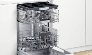 """SHPM78Z55N Bosch 800 Series 24"""" Top Control 42 dBa Dishwasher with FlexSpace Tines and AquaStop Leak Protection - Stainless Steel with Pocket Handle"""