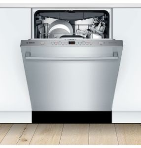 """SHXM65Z55N Bosch  24"""" 500 Series Top Control Dishwasher 44dBa with FlexSpace Tines and AquaStop Leak Protection - Stainless Steel with Bar Handle"""