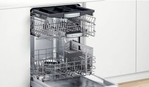 "SHXM78Z55N Bosch 800 Series 24"" Top Control Dishwasher 42dBa with FlexSpace Tines and AquaStop Leak Protection - Stainless Steel with Bar Handle"