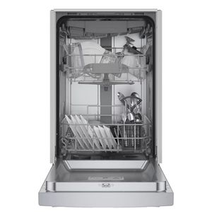 """SPE53B55UC Bosch 300 Series 18"""" ADA-compliant Dishwasher with Recessed Handle - Stainless Steel"""
