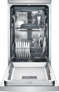 "SPE68U55UC Bosch 800 Series 18"" Recessed Handle Dishwasher - Stainless Steel"