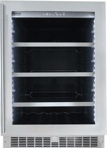 """SPRBC056D1SS Danby 24"""" Silhouette Saxony Single Zone Beverage Center with 126 Can and 6 Bottle Capacity - Stainless Steel"""