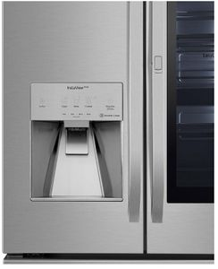 """SRFVC2406S LG 36"""" WiFi Enabled 24 cu ft Capacity Counter Depth French Door Refrigerator with Dual Ice Maker and SmartDiagnosis - PrintProof Stainless Steel"""