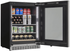 "SRVBC050L Silhouette 24"" 5.0 Cu. Ft. Freezerless Built-In Refrigerator with Self Closing Door and Invisi-Touch Display - Left Hinge - Black"