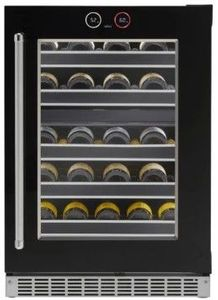 "SRVWC050R Danby Silhouette Reserve 24"" Right Hinge 37 Bottle Wine Cellar with InvisiTouch Display and Parametric Lighting - Black"