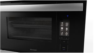 """SCC2489DS Sharp 24"""" Built In Single Wall Oven with Convection and Super Steam - Stainless Steel"""